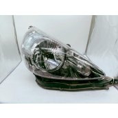 Jazz RH Head Light GD 1.5 ENG BLACK INNER CHROME INSERT TYPE MANUAL ADJ LENS# 4944 10/04-09/08 *POLISH