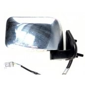 D22 Navara RH Door Mirror POWER CHROME 04/97-current